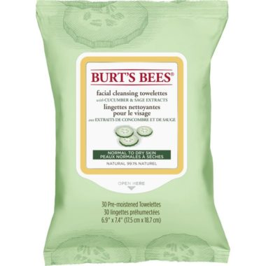 Facial Cleansing Towelettes with Cucumber and Sage, 30