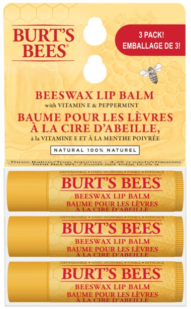 Beeswax Lip Balm 3 Pack Original
