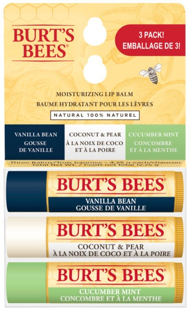 Beeswax Lip Balm 3 Pack Assorted