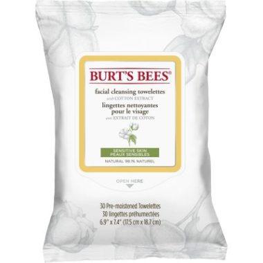 Lingettes nettoyantes pour la peau sensible du visage à l'extrait de coton