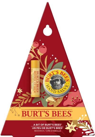A Bit of Burt's Bees® Holiday Gift Set – 100% Natural, Original Beeswax Lip Balm and Hand Salve in Festive Gift Box