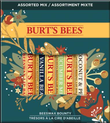 Beeswax Bounty Assorted Lip Balm Holiday Gift Set, 4 Lip Balms