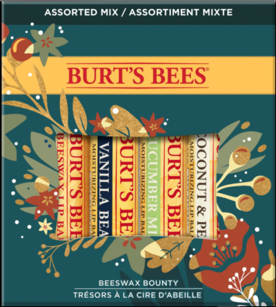Beeswax Bounty Assorted Lip Balm Holiday Gift Set, 4 Lip Balms
