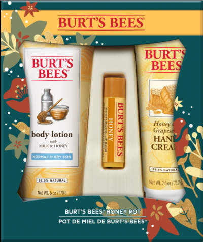 Honey Pot Holiday Gift Set, 3 Products – Body Lotion, Hand Cream and Lip Balm