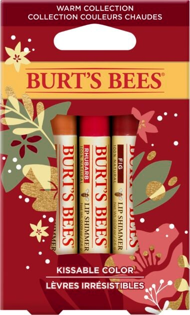 Kissable Colour Holiday Gift Set, 3 Lip Shimmers – Peony, Fig and Rhubarb