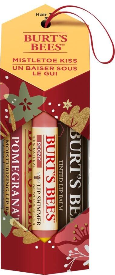 Mistletoe Kiss Holiday Gift Set, 3 Products – Lip Balm, Tinted Lip Balm, Lip Shimmer