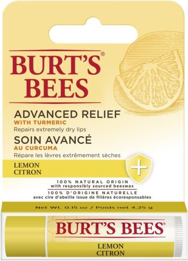 100% Natural Origin Advanced Relief Lip Balm For Extremely Dry Lips Lemon